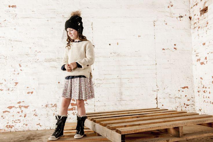 OUCH Kids Clothing #girlsfashion #kidsfashion #floral #winter #knitwear