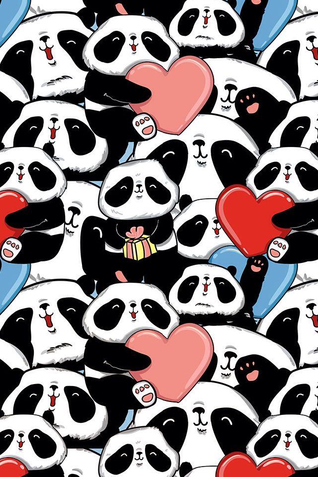 Wallpaper pandas ❤️