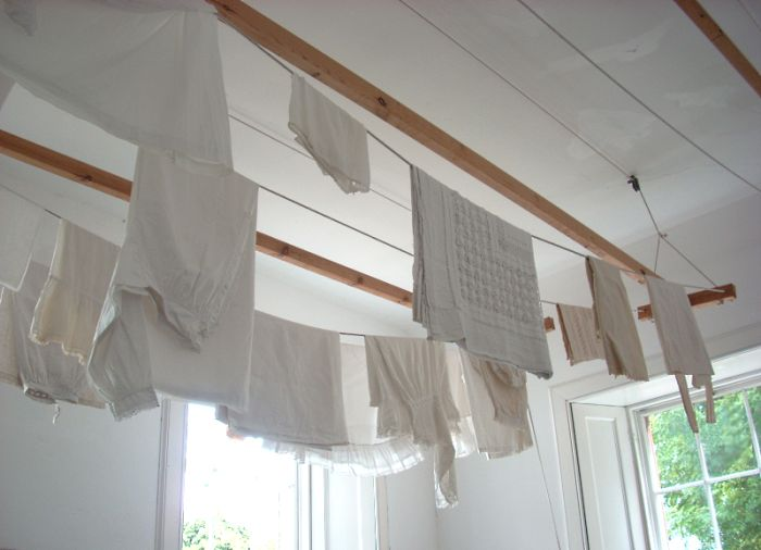 Ceiling Hung Clothes Drying Rack Flood Line Pinterest