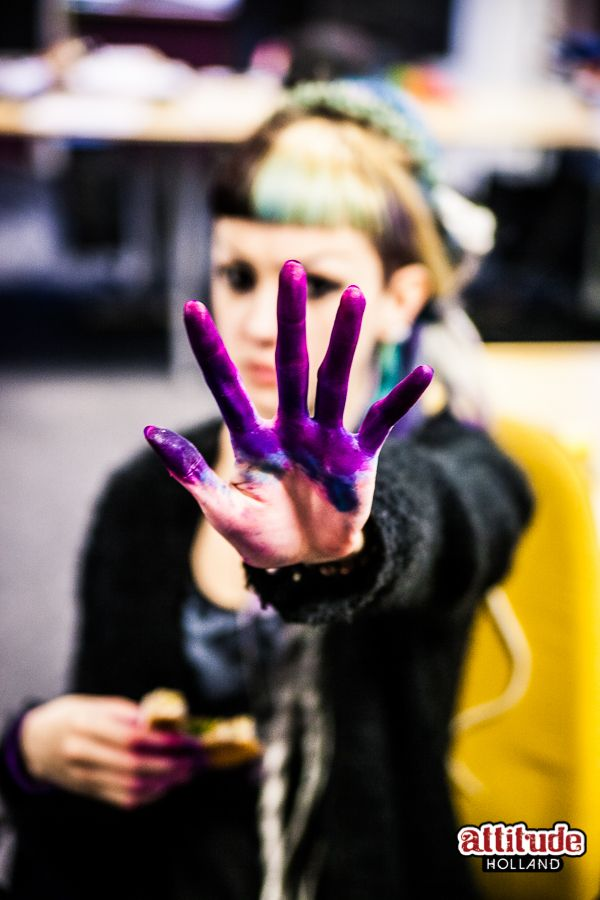 Dying hair is a colorful job... www.attitudeholland.nl