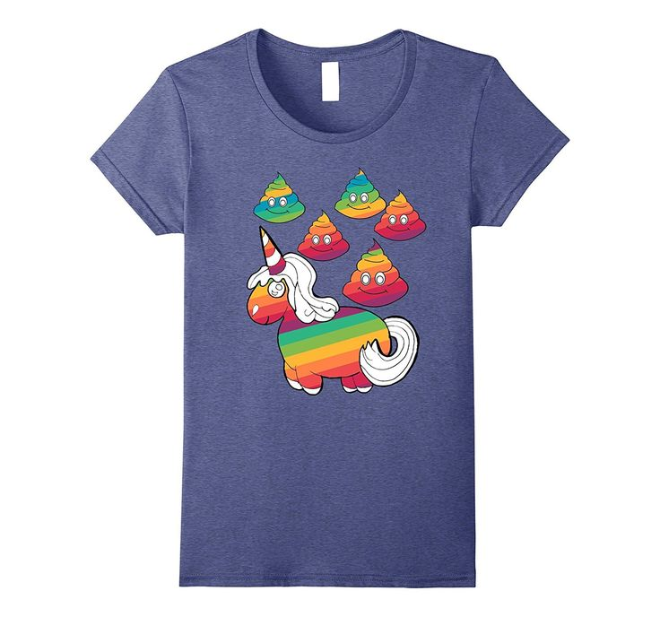 Rainbow Unicorn Poop Clouds Emoji T-Shirt