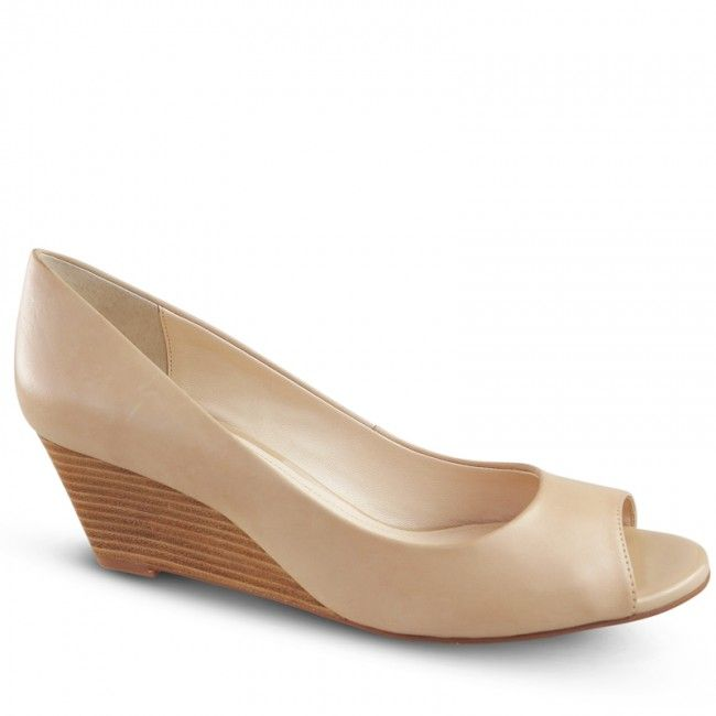 Wonda is crafted from delicate nude leather and features a contrasting 5.5cm wedge and simple peep toe. The classic design and modern textile on this chic corporate wedge…