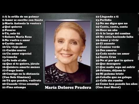 María Dolores Pradera - Grandes éxitos - YouTube