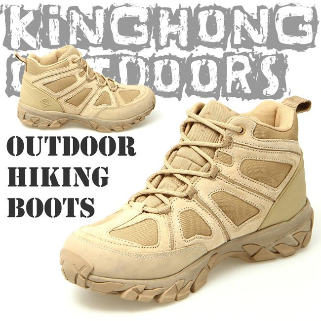 Men's Lace Up Breathable DESERT Hiking boots Army Military Boots Tactical Lightweight Combat Boots Free shipping(12009)