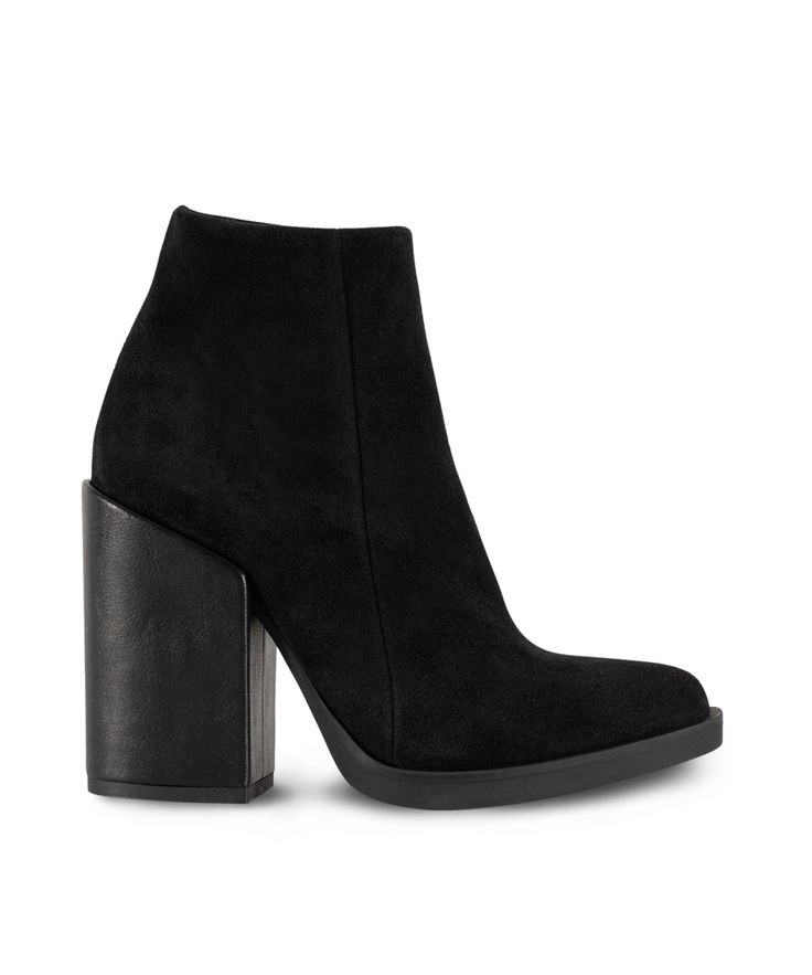 GRUMMAN heeled ankle bootie...being on the high way... Black