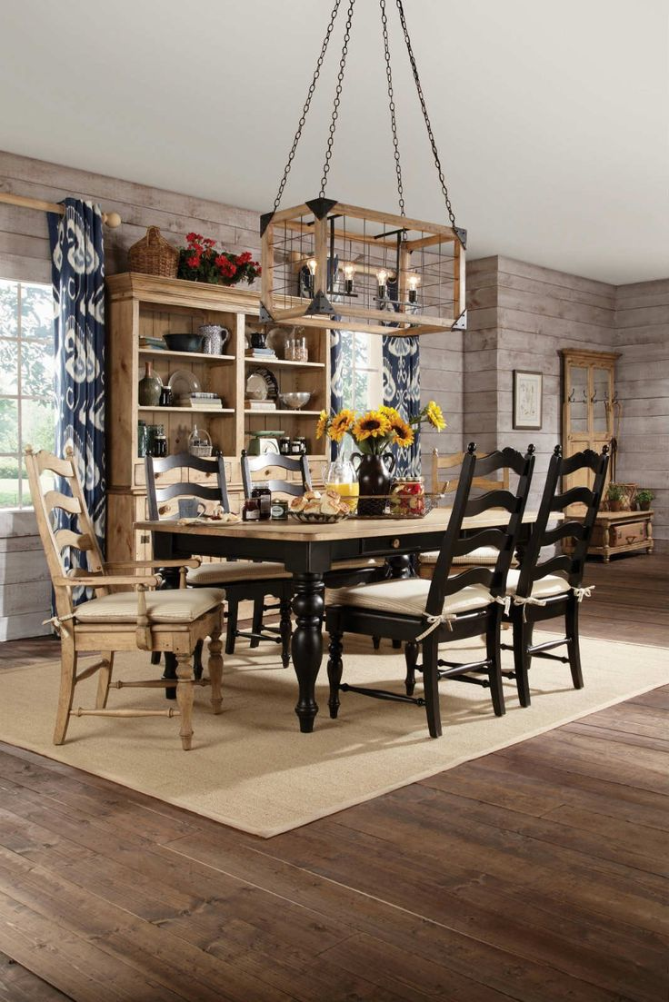 Farmhouse Leg Dining Table Set in Vintage Pine  168 best furniture images on Pinterest   Dining room  Dining room  . Antique Pine Dining Room Chairs. Home Design Ideas