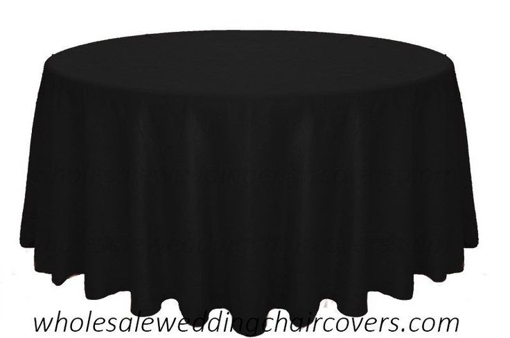"10 BLACK CRUSHED TAFFETA 120"" ROUND TABLECLOTHS WEDDING BANQUET"