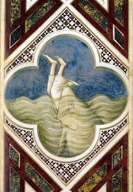 Jonah in the fish's mouth  Giotto (di Bondone -1266/7  January 8, 1337)