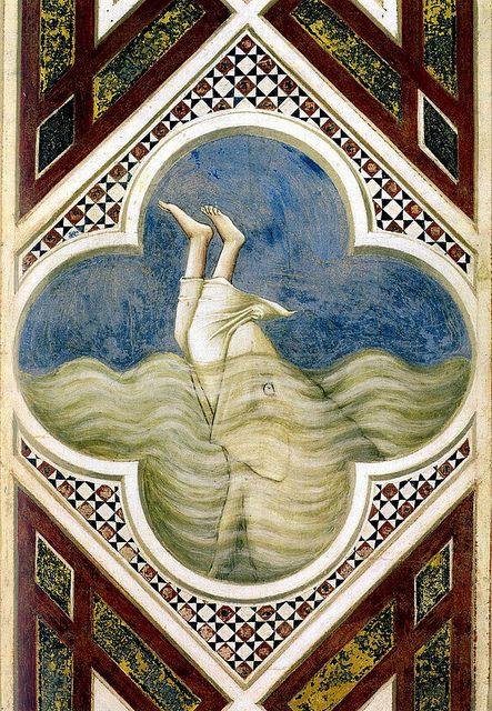 Jonah in the fish's mouth  Giotto (di Bondone -1266/7  January 8, 1337)