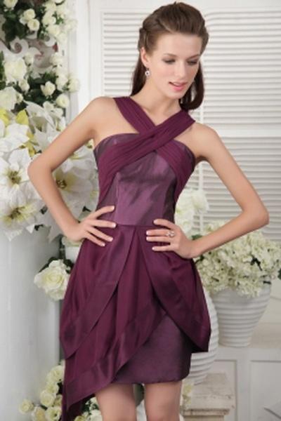 Scoop Purple Chiffon Bridesmaids Dress sfp2641 - http://www.shopforparty.com/scoop-purple-chiffon-bridesmaids-dress-sfp2641.html - COLOR: Purple; SILHOUETTE: A-Line; NECKLINE: Scoop; EMBELLISHMENTS: Ruffles; FABRIC: Chiffon - 128USD
