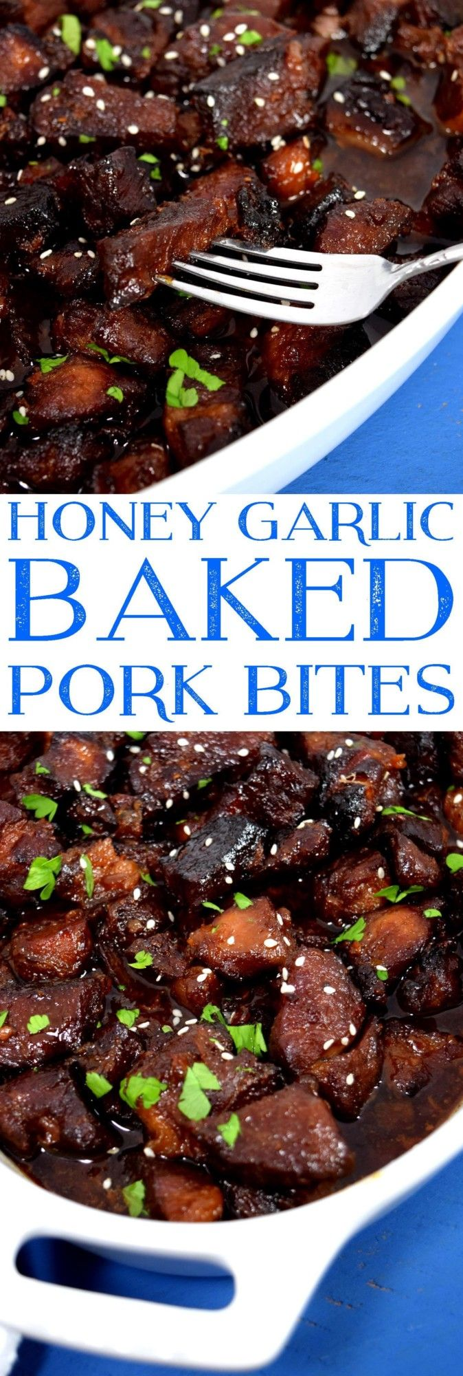 Honey Garlic Baked Pork Bites 2