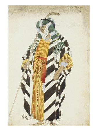 Costume Design for a Dancer in Suite Arabe Posters par Leon Bakst sur AllPosters.fr