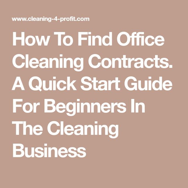The  Best Cleaning Contracts Ideas On   Business