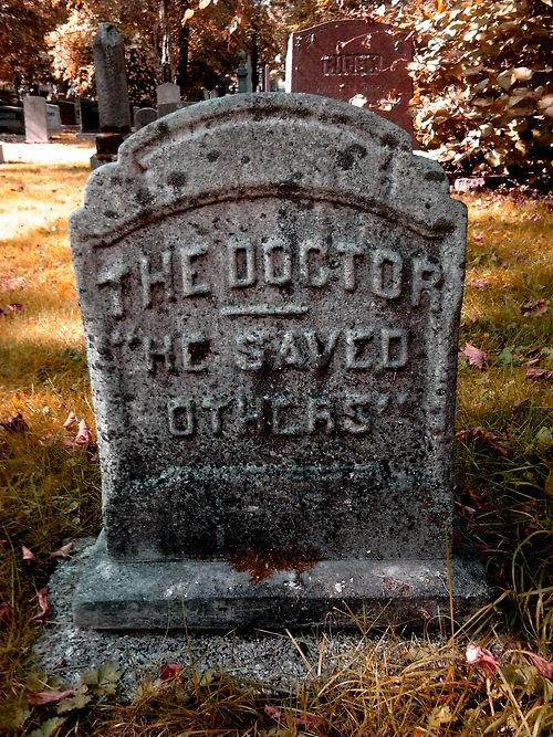 """""""Found this while doing a school project a while back. There was nothing else written on the stone."""" The Doctor. He saved others."""