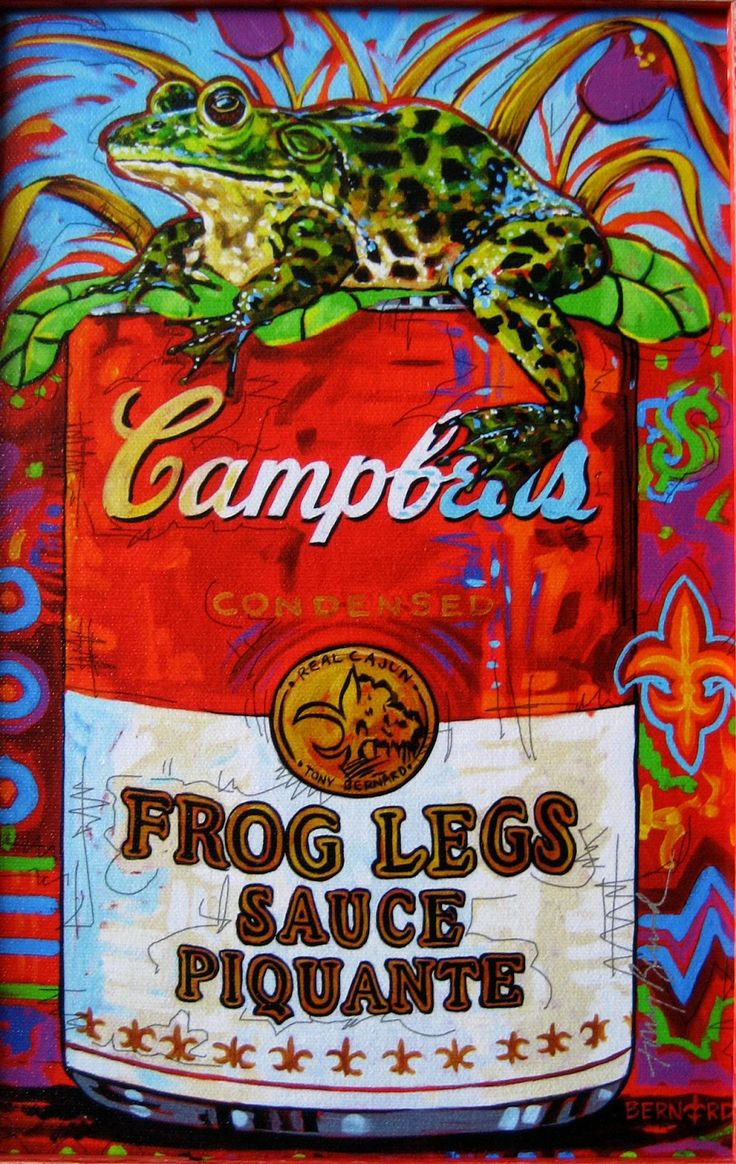 Frog Legs Sauce Piquante by Tony Bernard  Favorite Artists in 2019  Louisiana art Cajun
