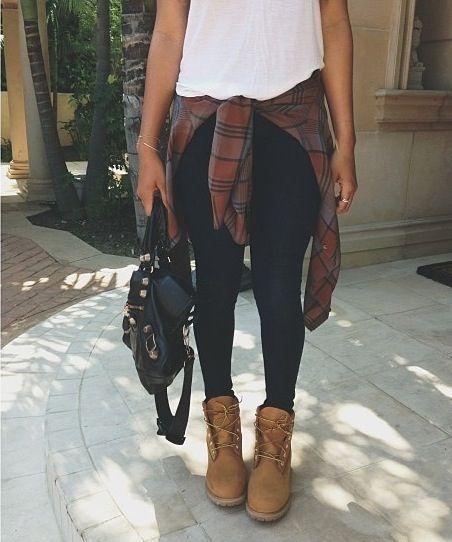 Camisa cuadros y botines