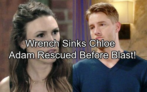 The Young and the Restless (Y&R) spoilers tease that the large metal wrench Chloe (Elizabeth Hendrickson) revealed appears to confirm that she caused...