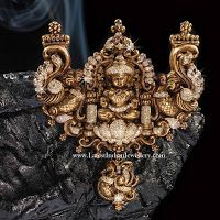 Fusion Lakshmi Pendant in Antique Nakshi Work