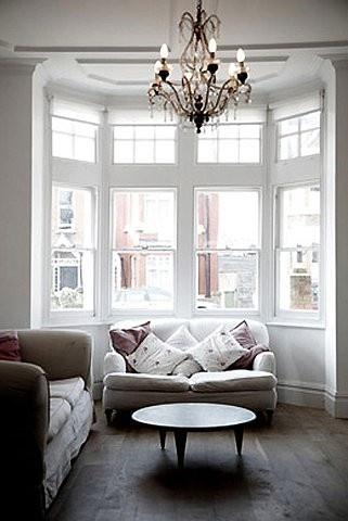 windows, chandelier, wood floors