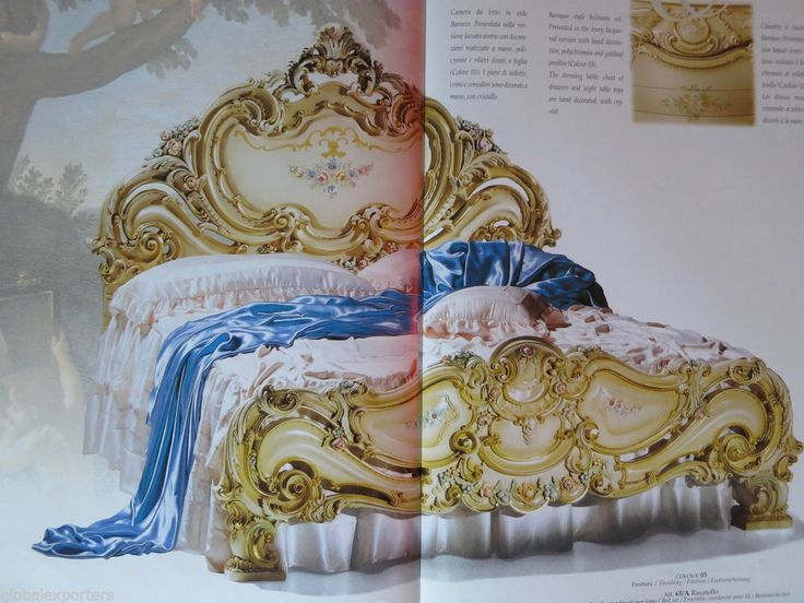 ORIGINAL ITALIAN FURNITURE COMPLETE BEDROOM SET QUEEN SIZE - BED STAND DRESSING