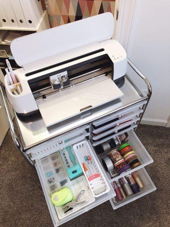 How to organize a craft closet with a Cricut Maker, plus ...