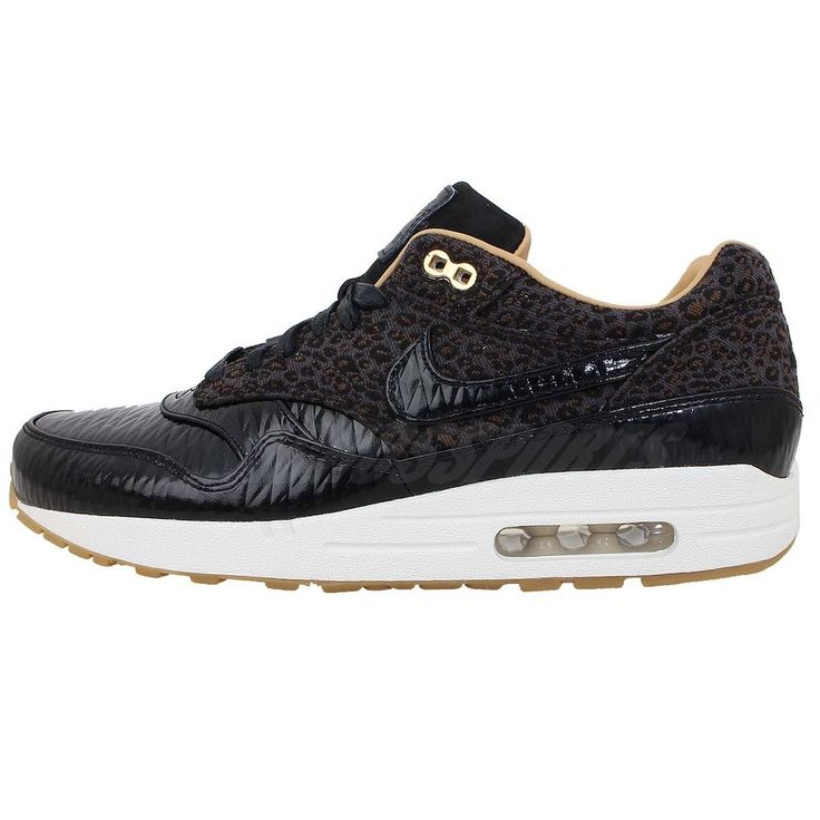 online store 151bb b7387 ... wholesale nike air max 1 fb woven black gold leopard mens running shoes  nsw sneakers http