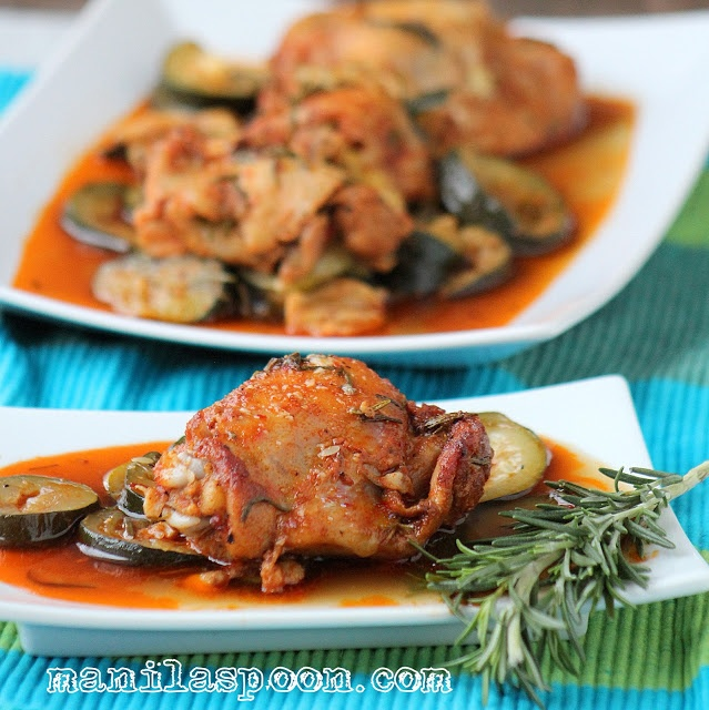 Manila Spoon: Rosemary Chicken with Courgettes (Zucchini)