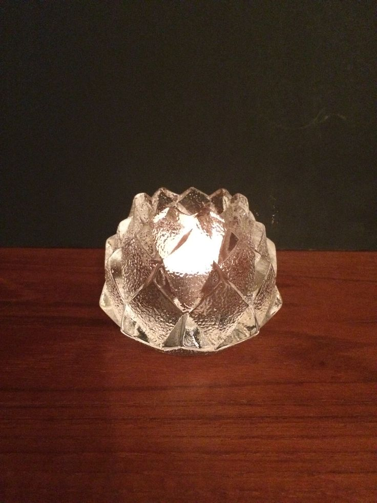Orrefors Sweden TL Artichoke Candle Holder