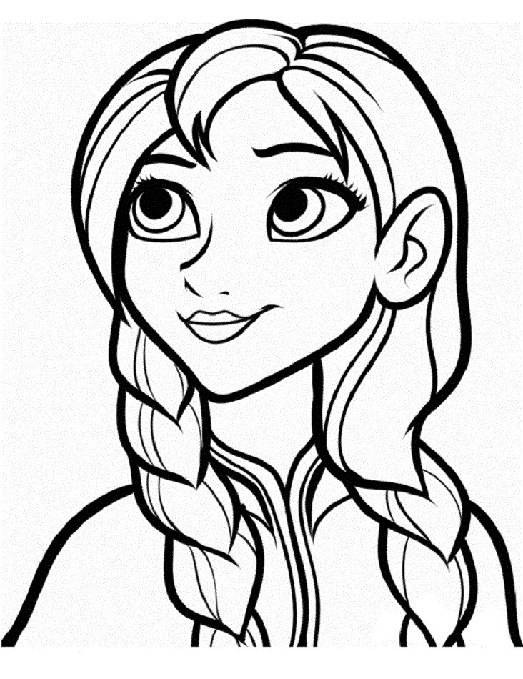 Frozen Anna Coloring Pages