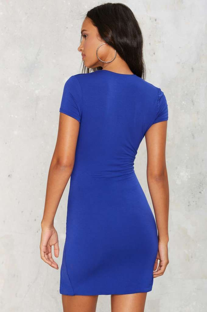 Graded on a Curve Plunging Mini Dress - Clothes | Going Out | All Party
