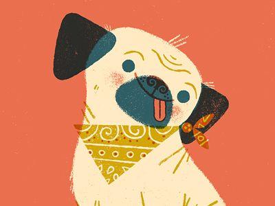 Sometimes I feel like a pug by Lydia Nichols #Design Popular #Dribbble #shots