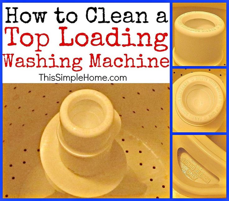 How to Clean a Top-Loading Washing Machine & Soap Scum :: Hometalk