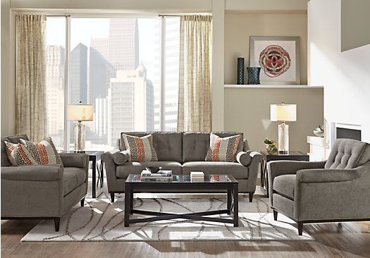 25 best ideas about grey living room sets on pinterest family room decorating interior - Common tables for living room to complement the interior design ...