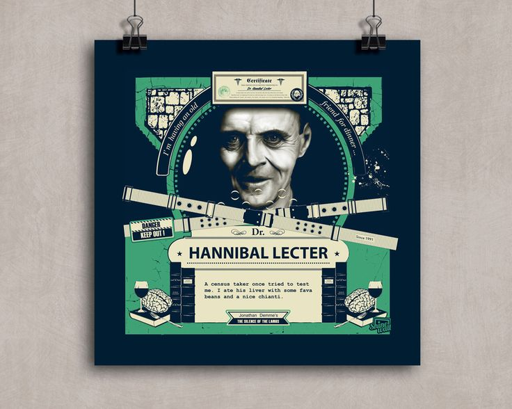 HANNIBAL LECTER - The silence of the lambs - Anthony Hopkins - movie poster by Shinewall on Etsy https://www.etsy.com/listing/477545196/hannibal-lecter-the-silence-of-the-lambs