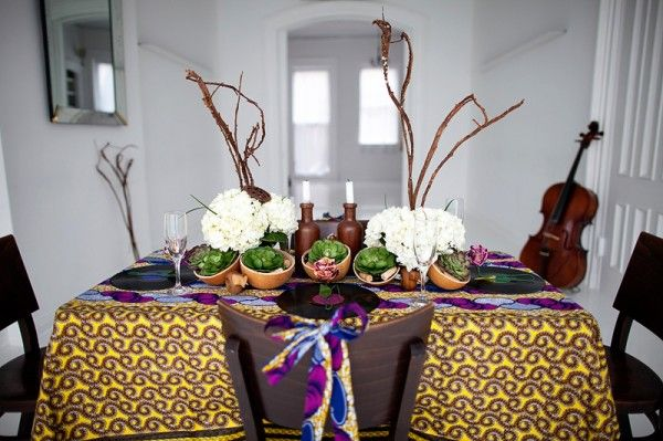 African Wedding Decorations: Modern African Tablescape