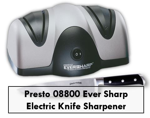 This electric knife sharpener is available with two attractive colors, these are black and silver. The shape of this knife sharpener is round which has soft edges. This Presto 08800 sharpener uses 2 stage for sharpening knives each time.