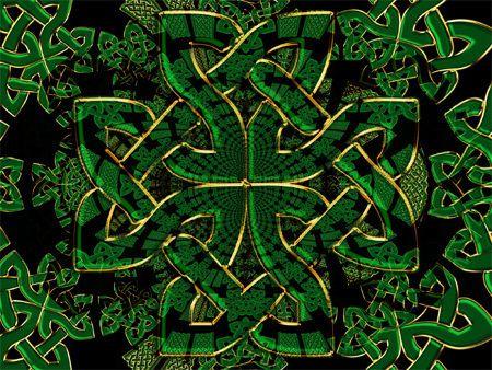 Celtic Dragon Wallpaper Celtic warrior green design ...