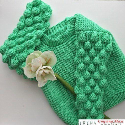 Вяжем ВМЕСТЕ объемный свитер спицами - Вяжем вместе он-лайн - Страна Мам