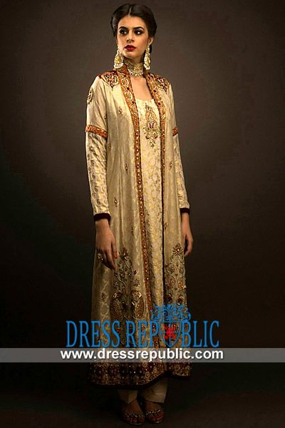 Off White Pakistani Party Dresses Pictures With Prices