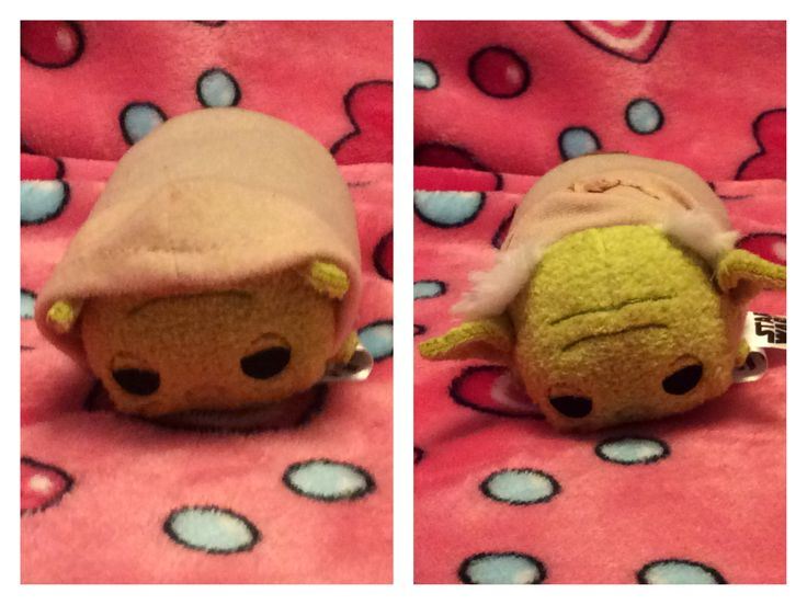 Here's Yoda with and without hood. (He looks so cute with those tuffs of hair!)