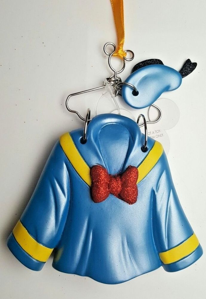Disney Parks Christmas Ornament Donald Duck  Outfit Costume Hanger USA Seller #DisneyParks #Christmas