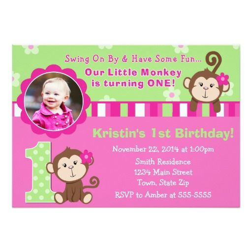 351 best Monkey Birthday Party Invitations images on Pinterest