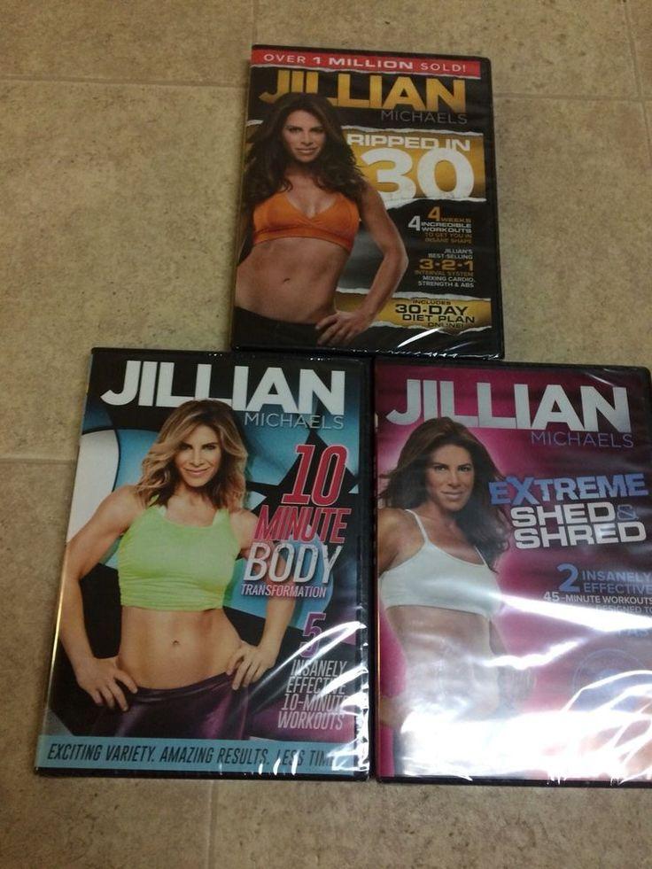 New Sealed 3 Jillian Michaels Exercise Workout DVD Set #JillianMichaels