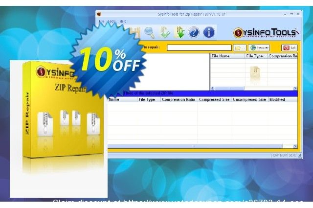Sysinfotools Zip Recovery Coupon On Kiss Day Offering Sales