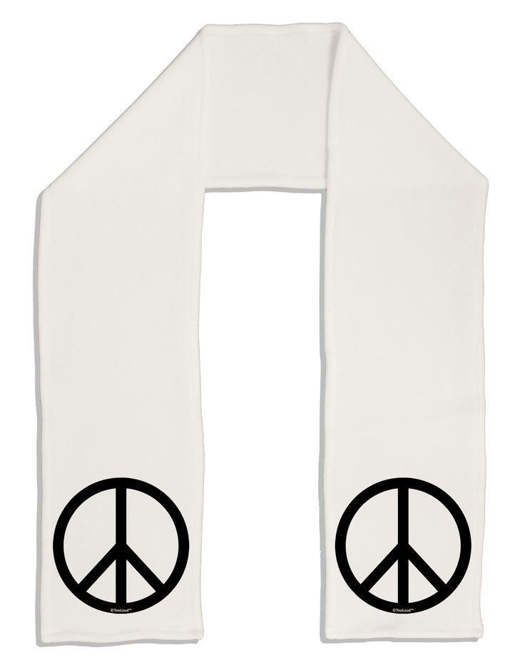 """TooLoud Peace Sign Symbol Adult Fleece 64"""" Scarf"""