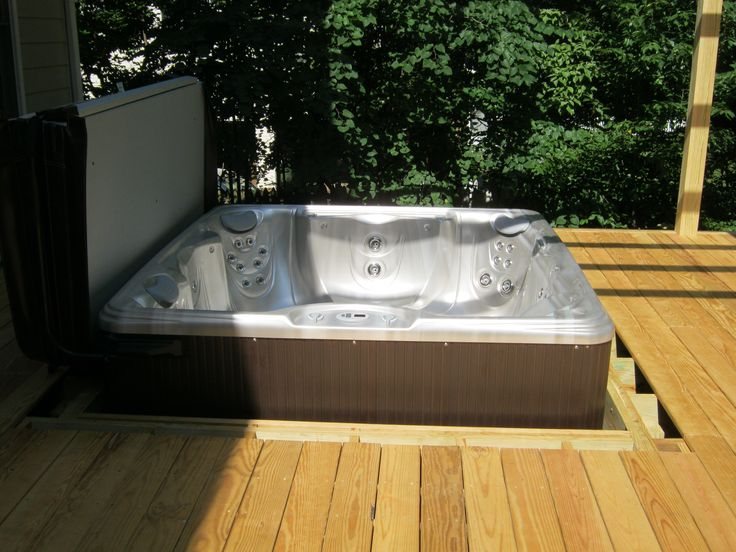 You Can Easily  U0026quot Drop U0026quot  Your Spa Into A Deck  But We Think It U0026 39 S Smart To Leave 12