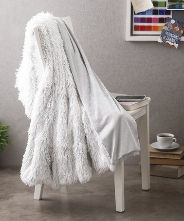 Another great find on #zulily! Light Gray Brielle Bottom-Dye Shaggy Throw #zulilyfinds