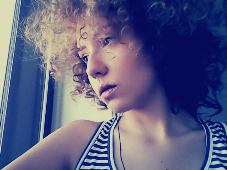 Too curly afro style