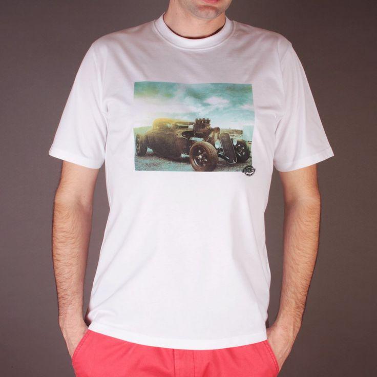 Biała koszulka Dickies Hot Rod Vintage White / www.brandsplanet.pl / #dickies streetwear