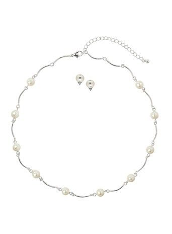 Pearl on Chain Jewellery Set